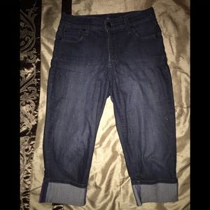 NYDJ jeans capris length dark blue